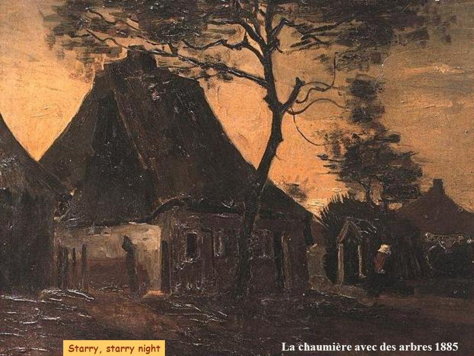 La chaumière avec des arbres 1885