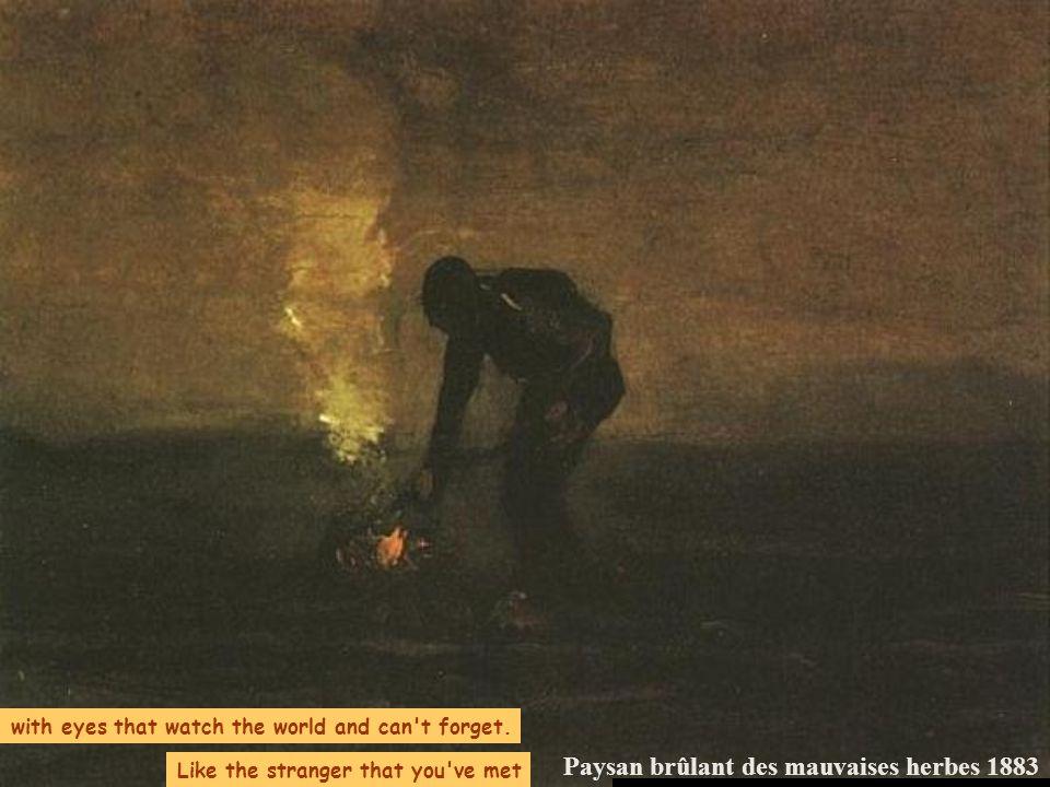 Paysan brûlant des mauvaises herbes 1883