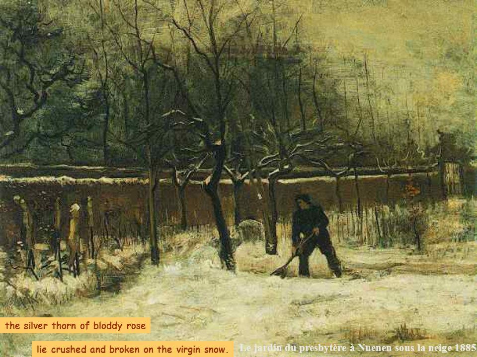 Le jardin du presbytère à Nuenen sous la neige 1885