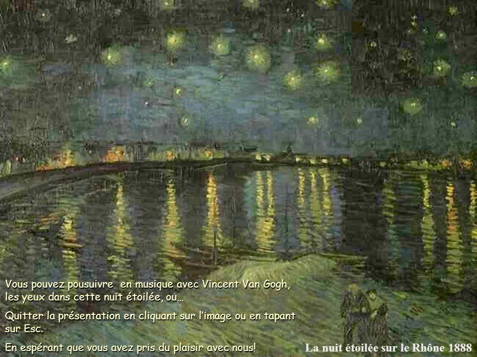 La nuit étoilée sur le Rhône 1888