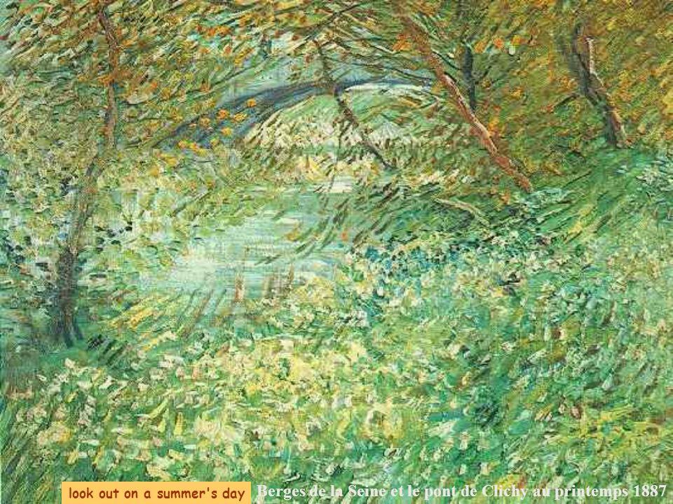 Berges de la Seine et le pont de Clichy au printemps 1887