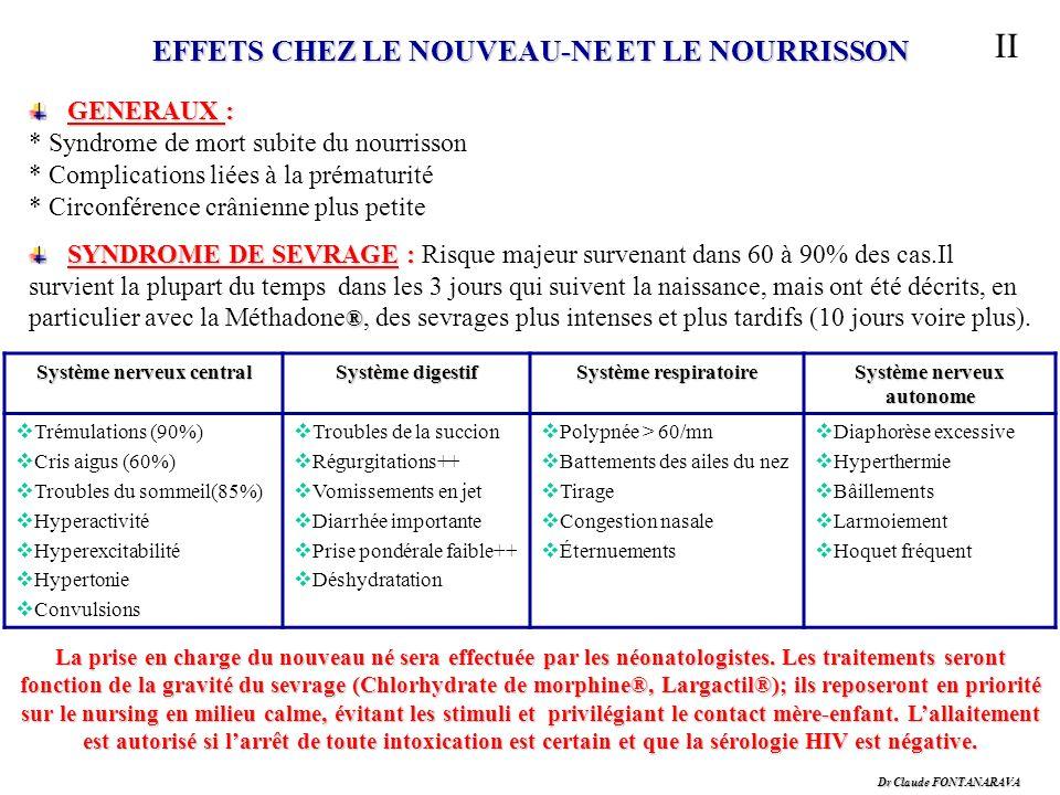 II EFFETS CHEZ LE NOUVEAU-NE ET LE NOURRISSON