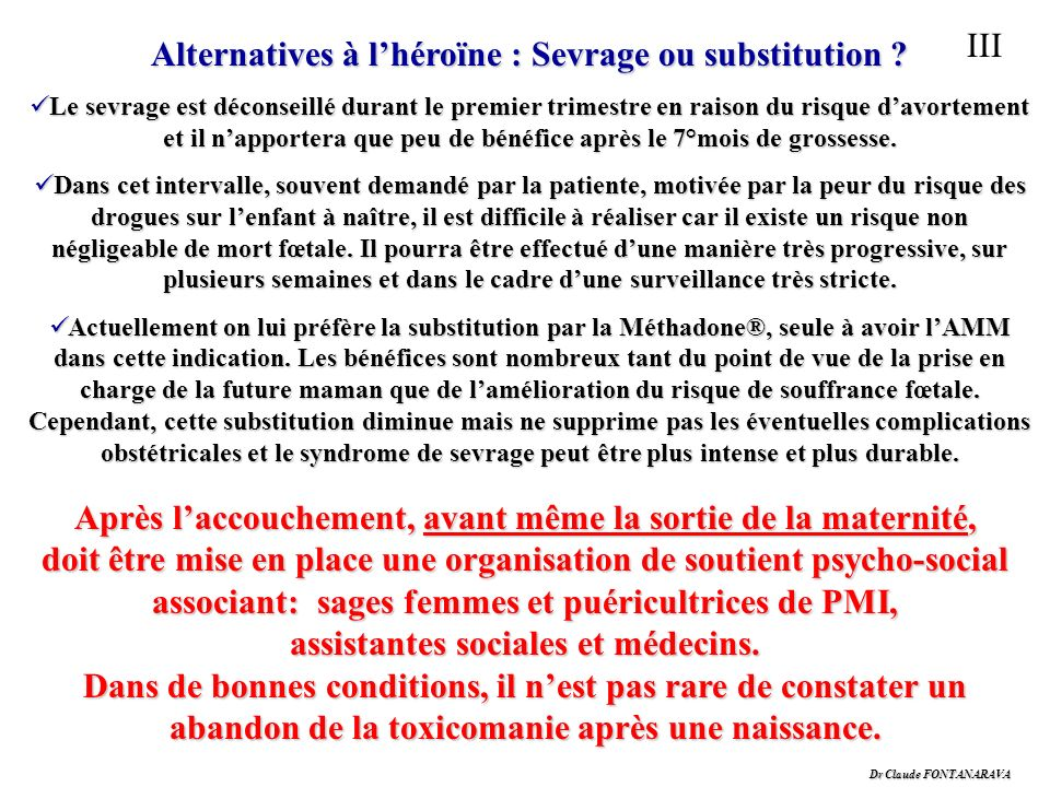 Alternatives à l'héroïne : Sevrage ou substitution