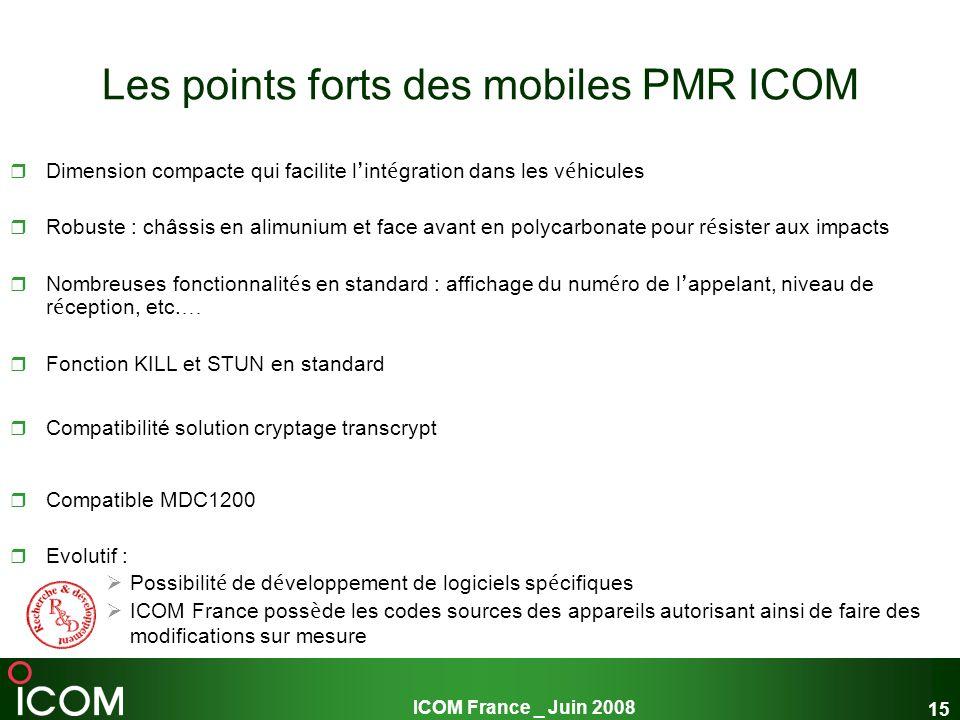 Les points forts des mobiles PMR ICOM