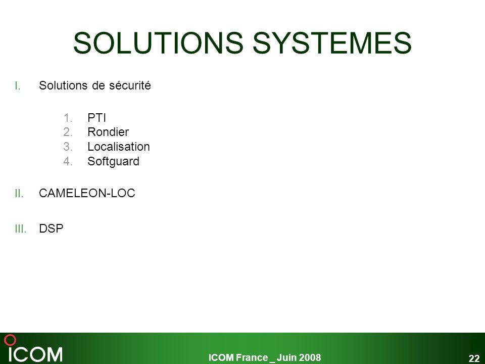 SOLUTIONS SYSTEMES Solutions de sécurité PTI Rondier Localisation