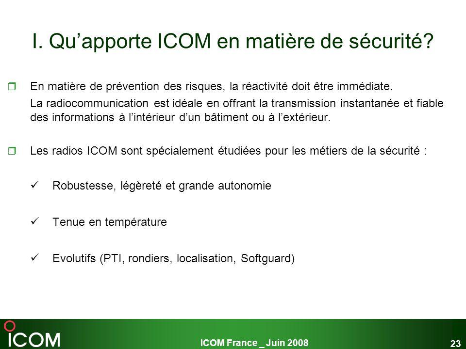 I. Qu'apporte ICOM en matière de sécurité