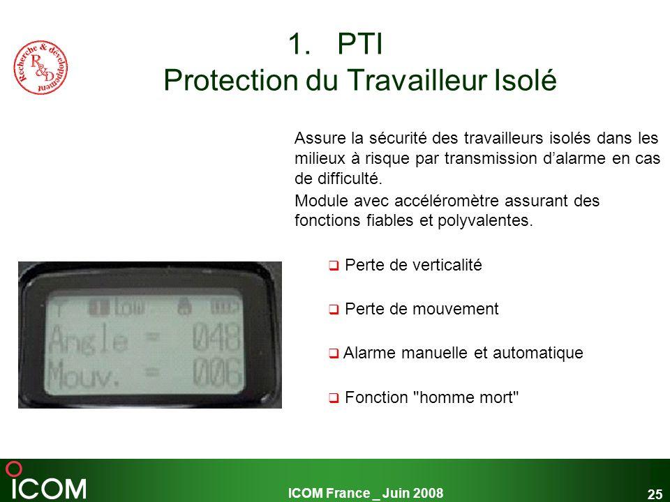 PTI Protection du Travailleur Isolé