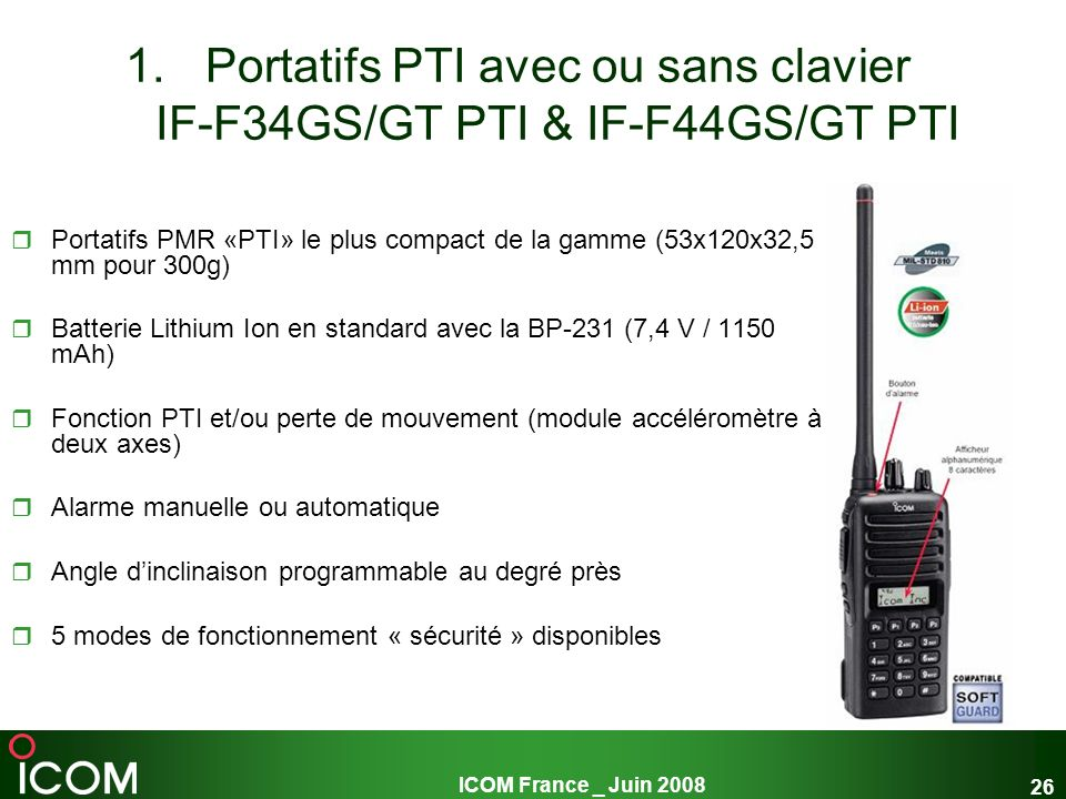 Portatifs PTI avec ou sans clavier IF-F34GS/GT PTI & IF-F44GS/GT PTI
