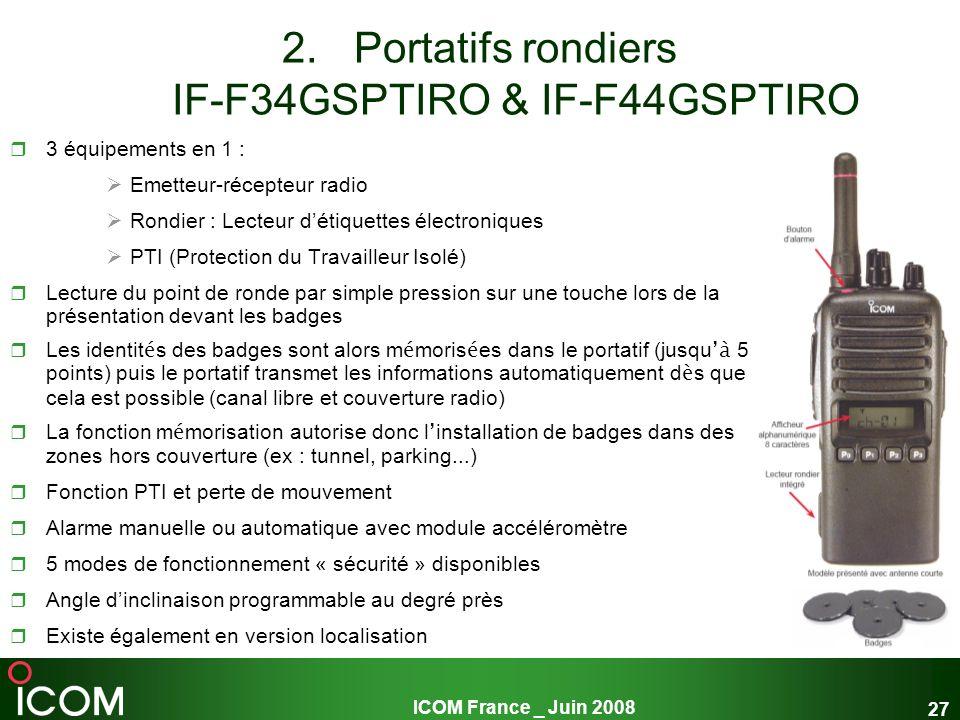Portatifs rondiers IF-F34GSPTIRO & IF-F44GSPTIRO