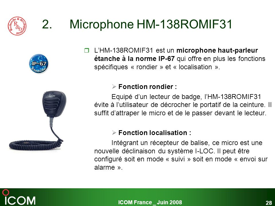 Microphone HM-138ROMIF31