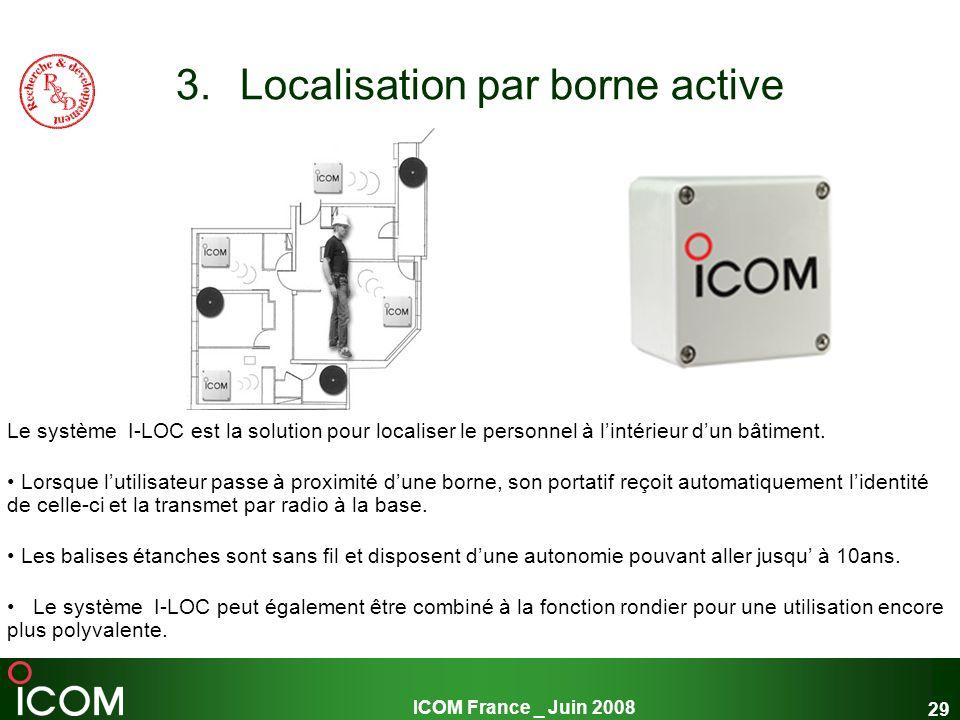 Localisation par borne active