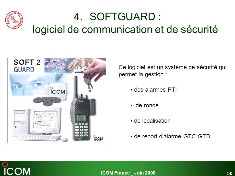 SOFTGUARD : logiciel de communication et de sécurité