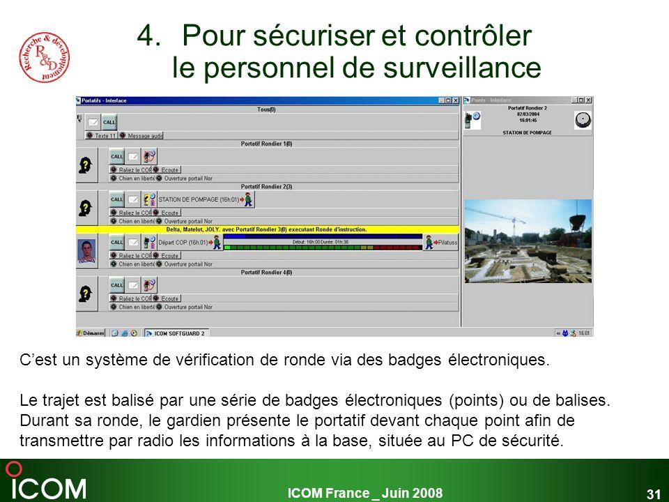 Pour sécuriser et contrôler le personnel de surveillance