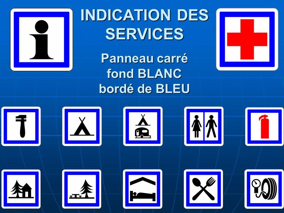 INDICATION DES SERVICES
