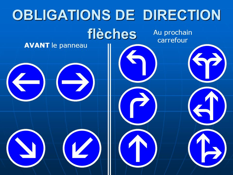 OBLIGATIONS DE DIRECTION