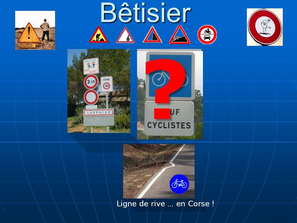 Bêtisier Ligne de rive … en Corse !