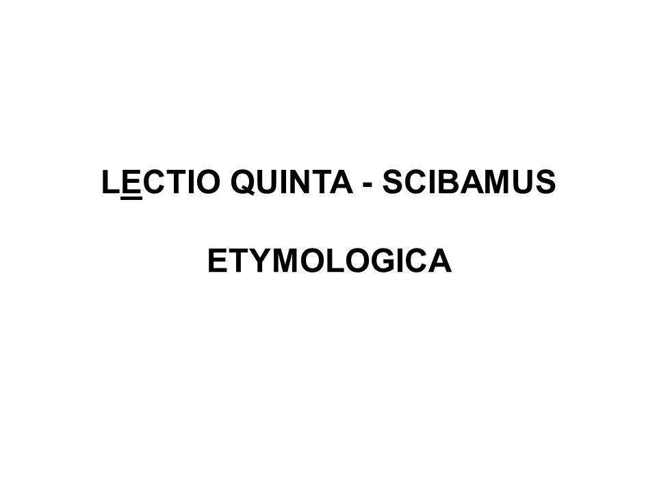 LECTIO QUINTA - SCIBAMUS