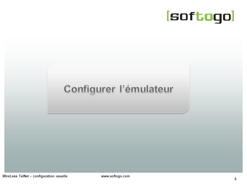 Configurer l'émulateur