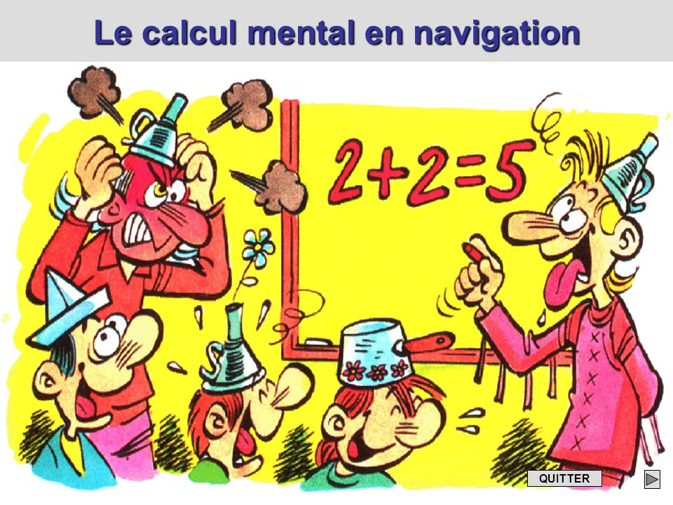 Le calcul mental en navigation