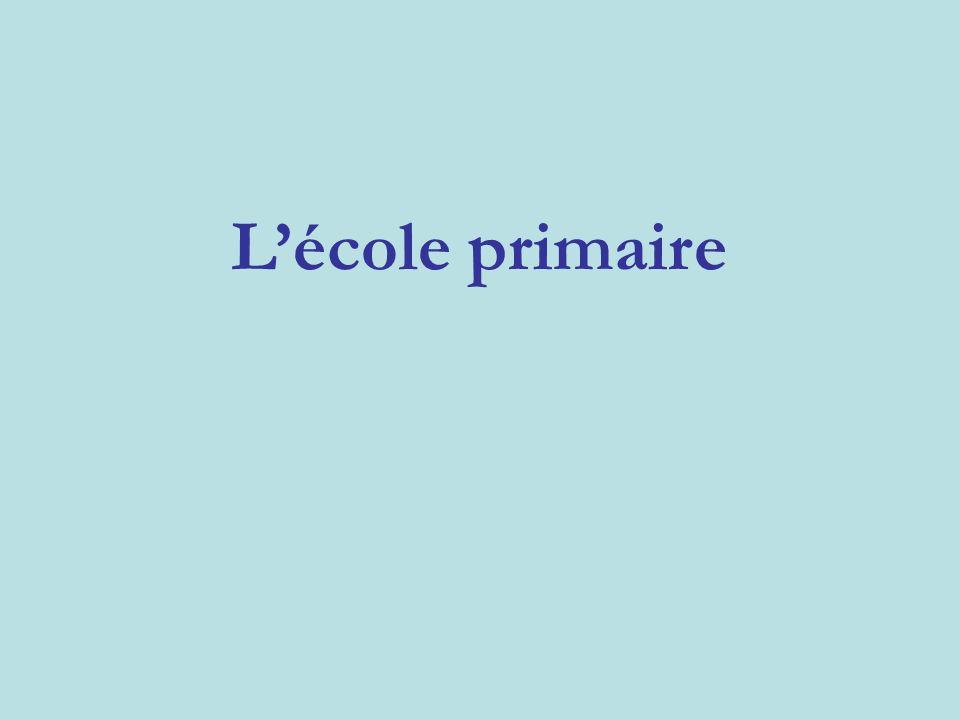 L'école primaire