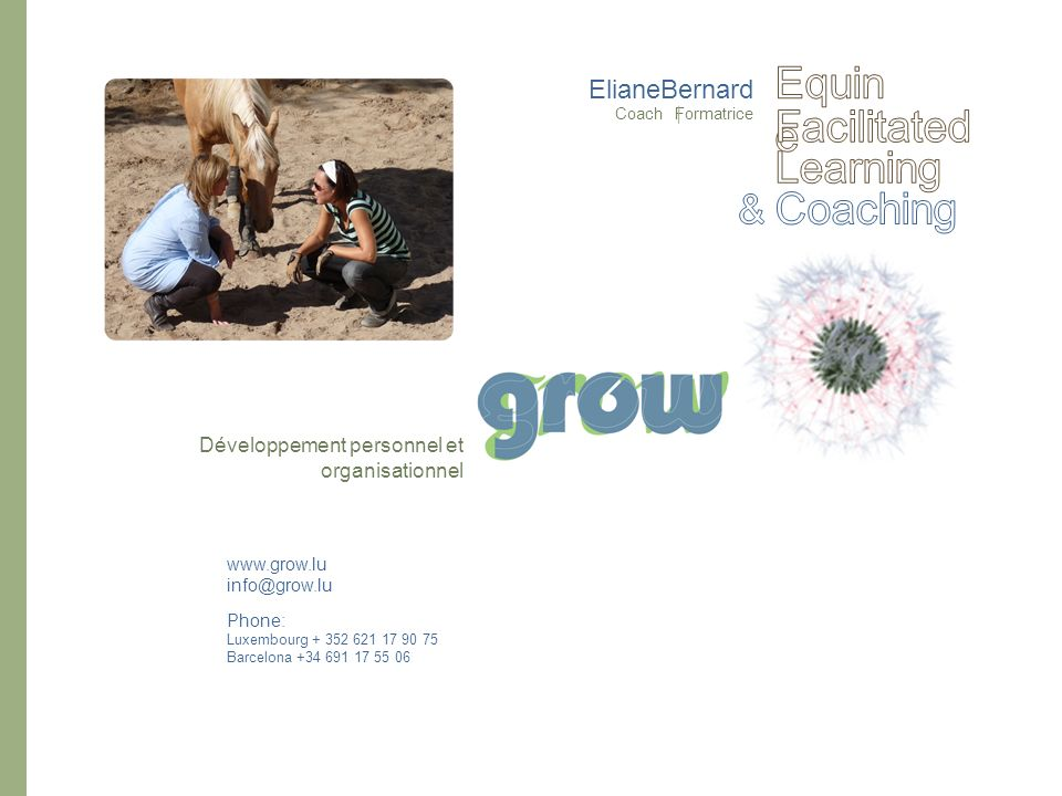 Equine Facilitated Learning Coaching & ElianeBernard