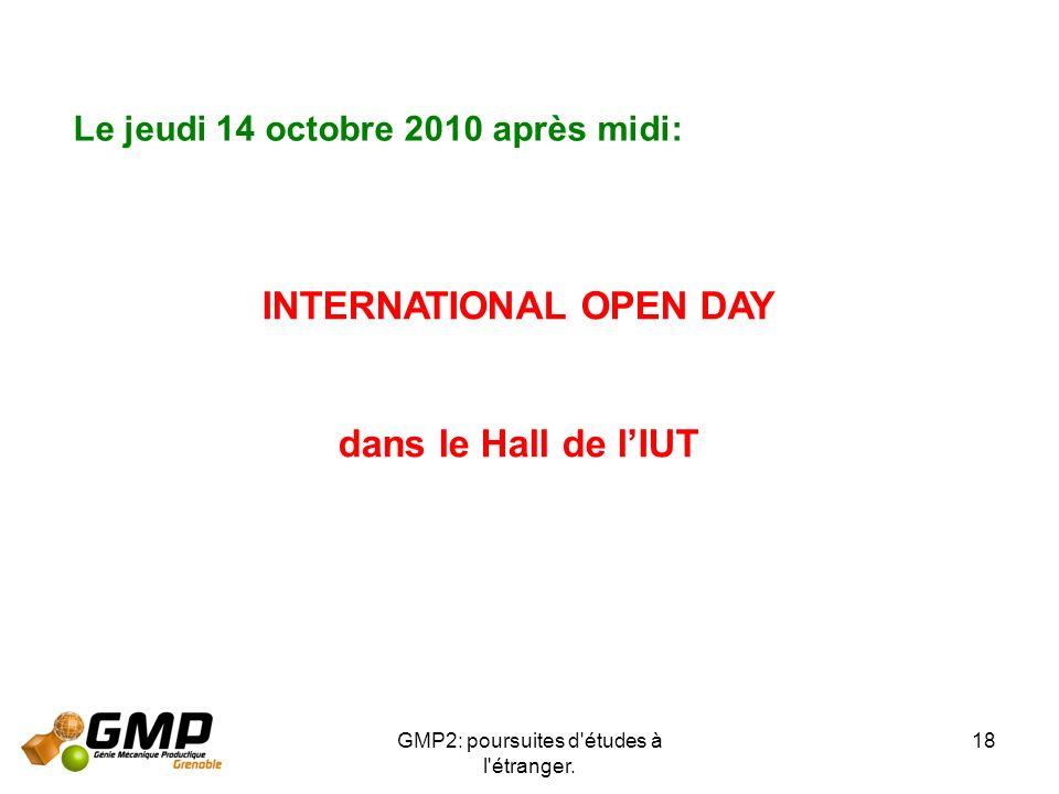 INTERNATIONAL OPEN DAY