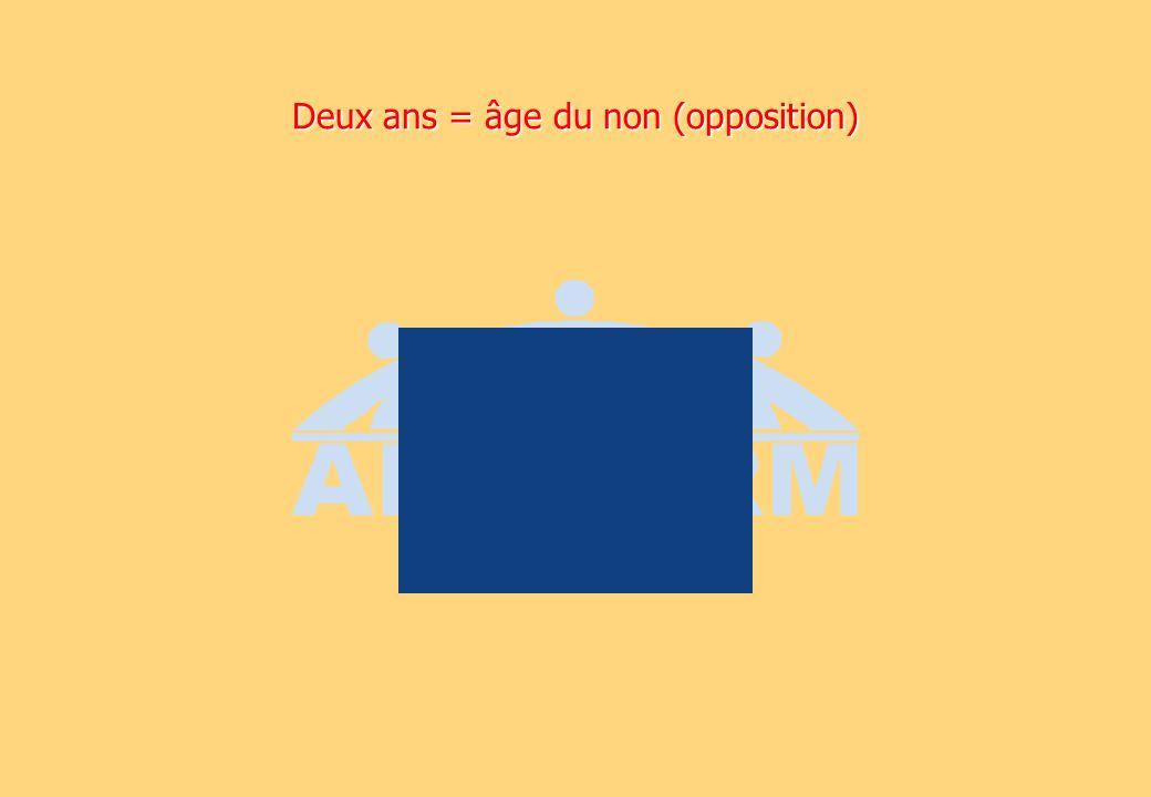 Deux ans = âge du non (opposition)