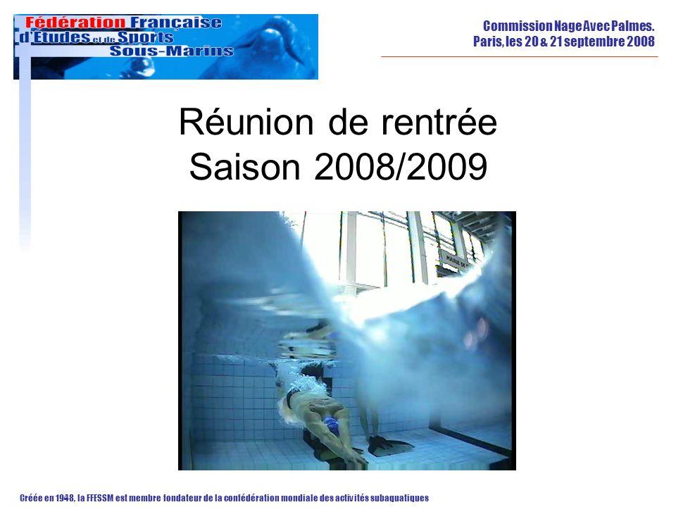 Réunion de rentrée Saison 2008/2009