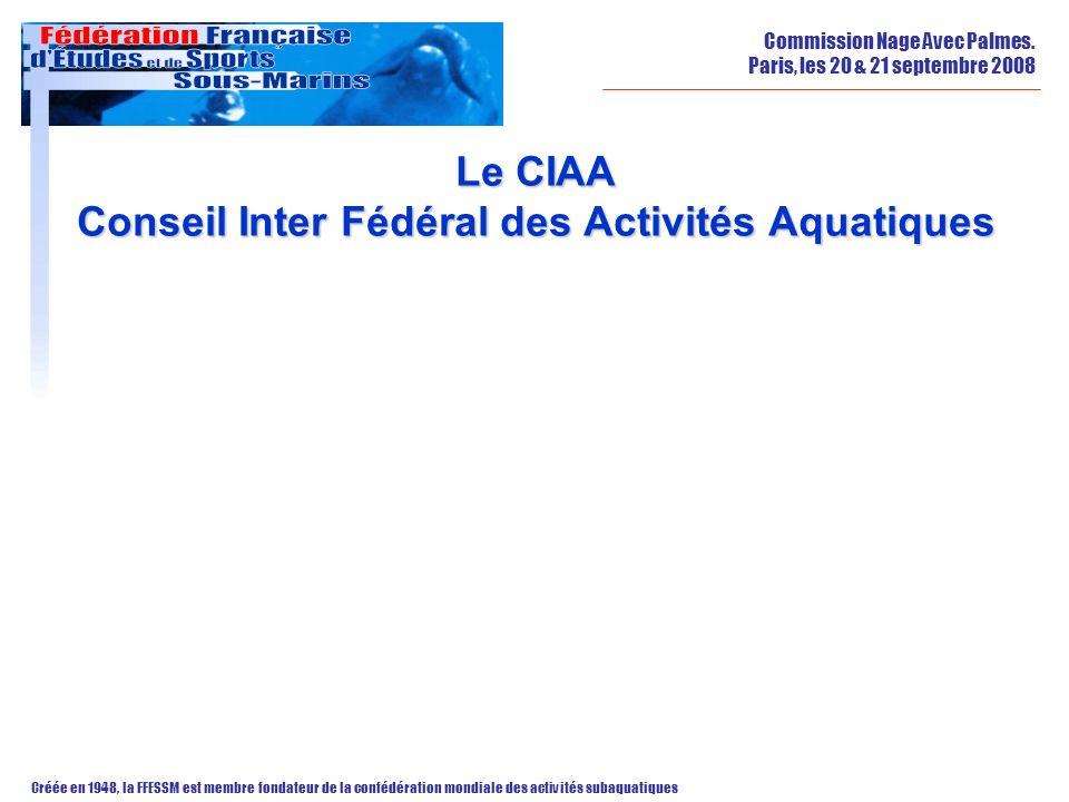 Le CIAA Conseil Inter Fédéral des Activités Aquatiques