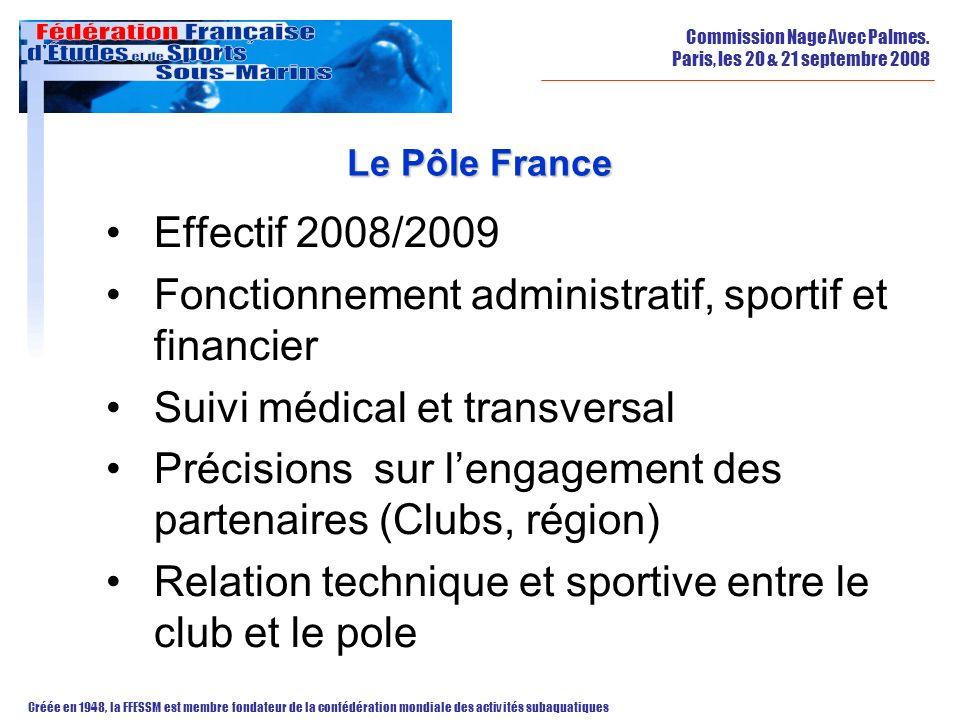 Fonctionnement administratif, sportif et financier