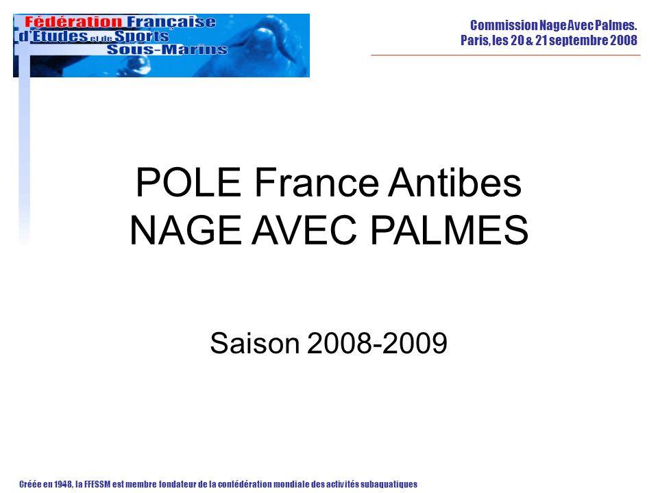 POLE France Antibes NAGE AVEC PALMES Saison 2008-2009