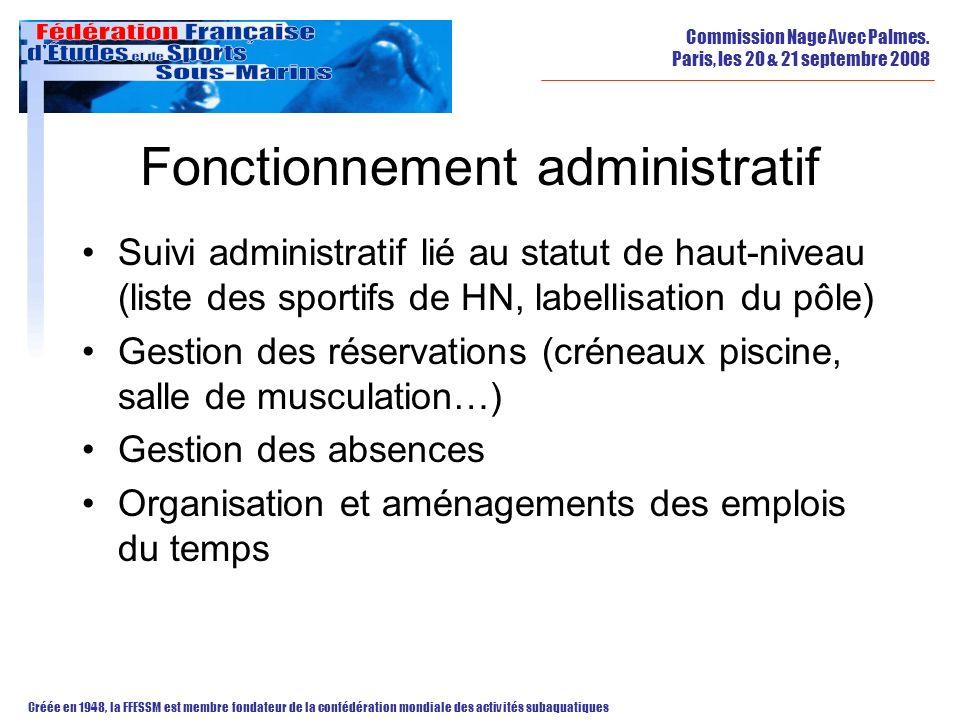Fonctionnement administratif