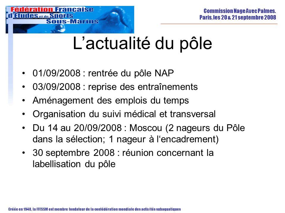 L'actualité du pôle 01/09/2008 : rentrée du pôle NAP