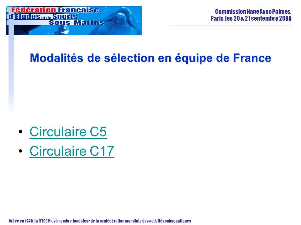 Modalités de sélection en équipe de France