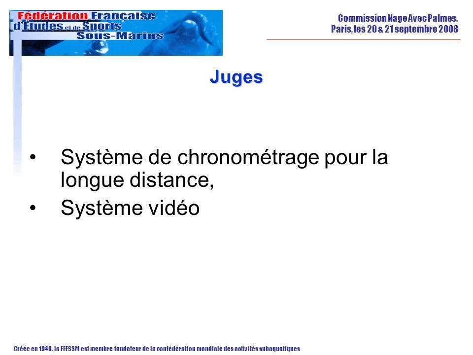Système de chronométrage pour la longue distance, Système vidéo