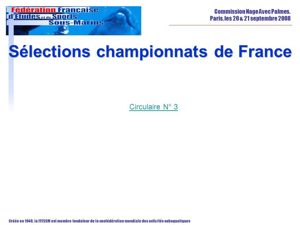Sélections championnats de France