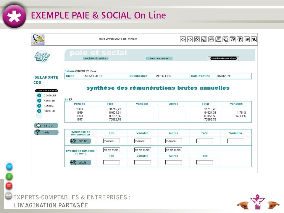 EXEMPLE PAIE & SOCIAL On Line