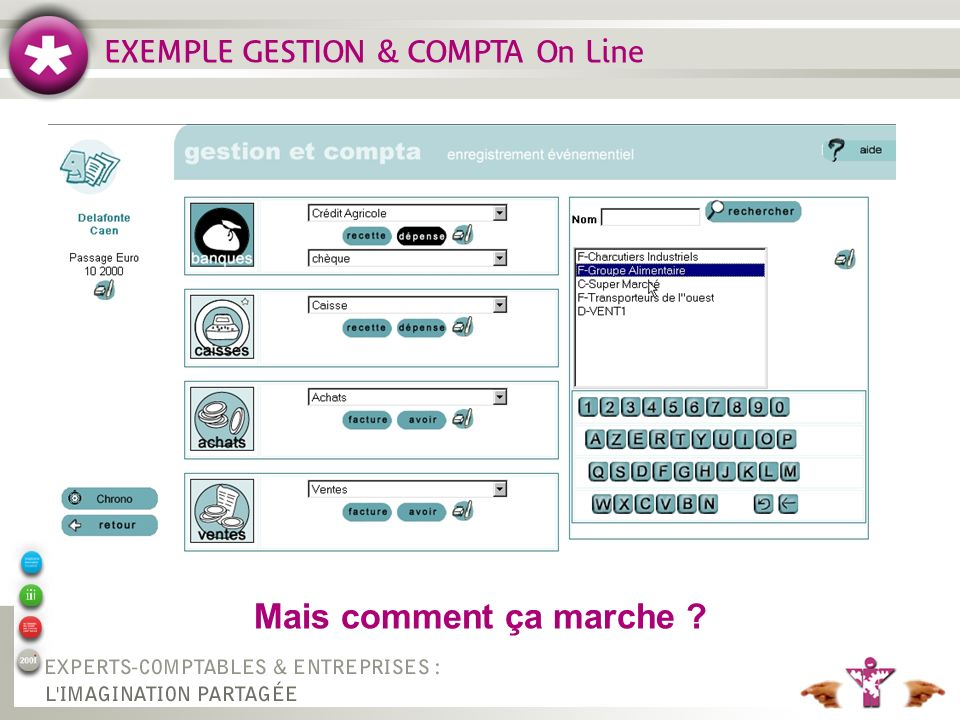 EXEMPLE GESTION & COMPTA On Line