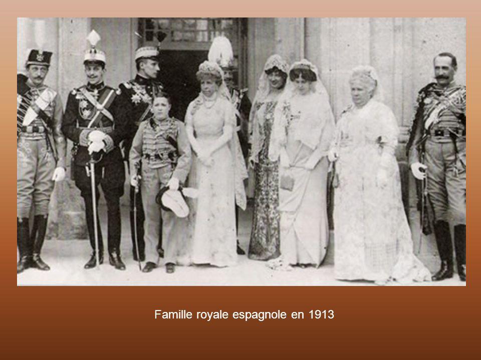 Famille royale espagnole en 1913