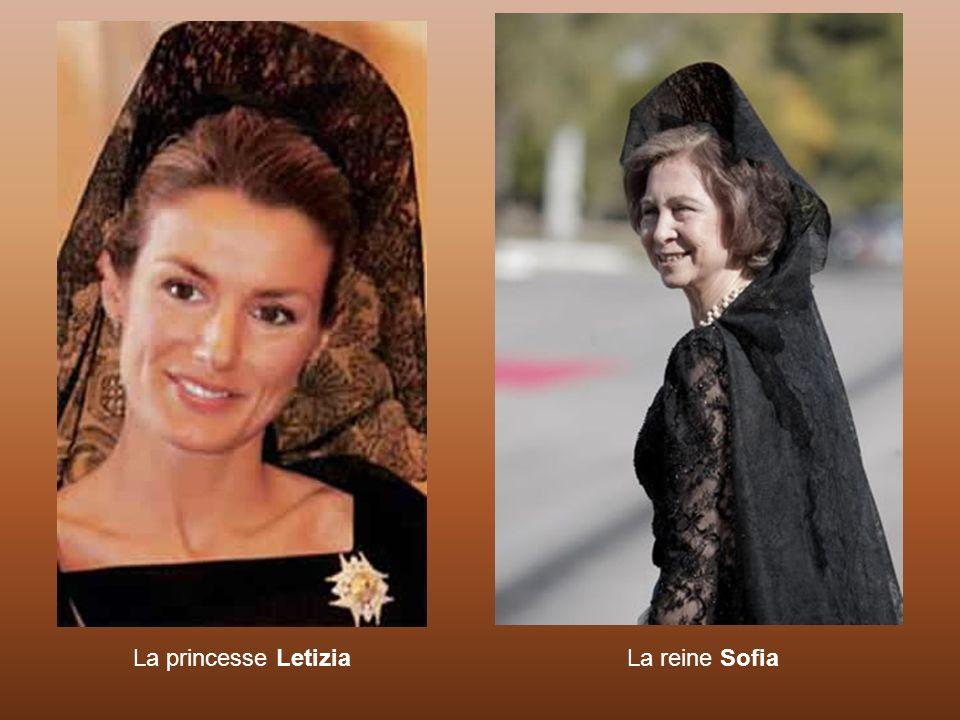La princesse Letizia La reine Sofia