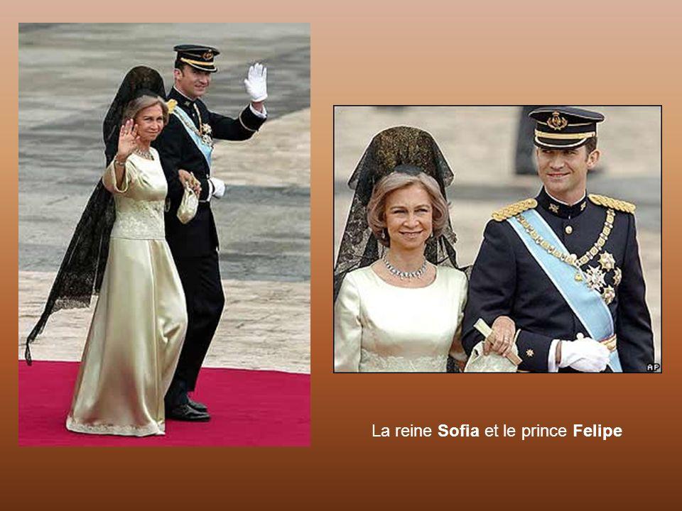 La reine Sofia et le prince Felipe