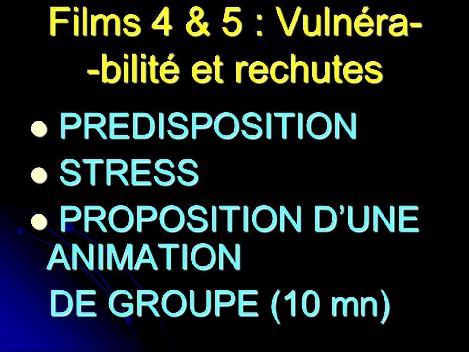 Films 4 & 5 : Vulnéra- -bilité et rechutes