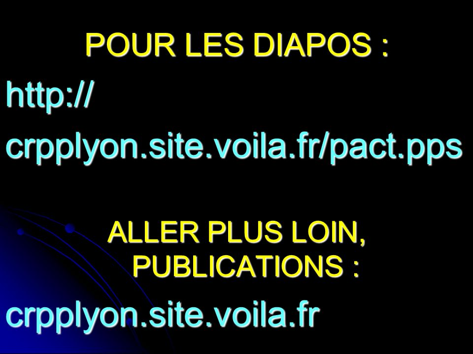 ALLER PLUS LOIN, PUBLICATIONS :