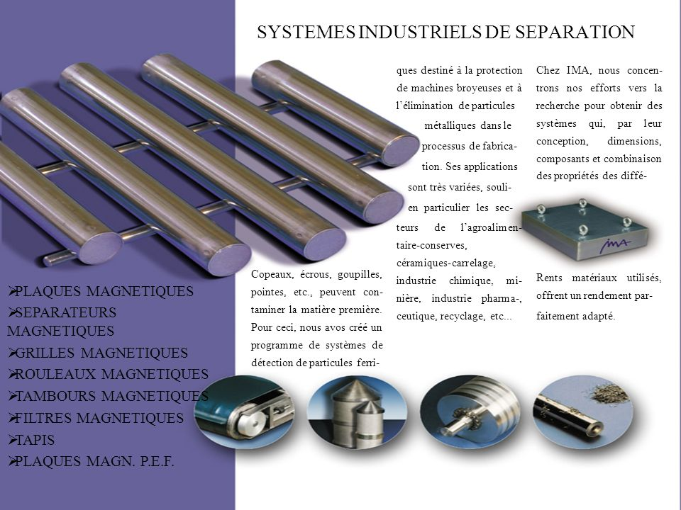 SYSTEMES INDUSTRIELS DE SEPARATION