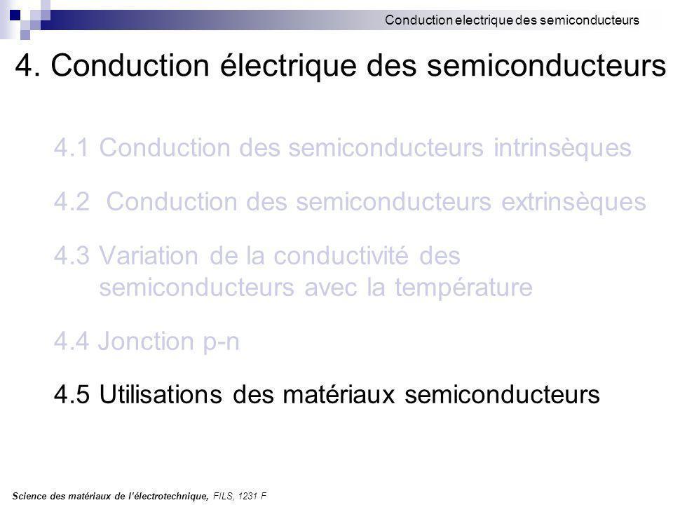 4. Conduction électrique des semiconducteurs
