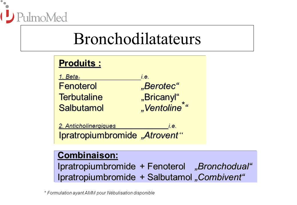 "Bronchodilatateurs Produits : Fenoterol ""Berotec"