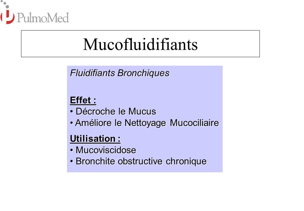 Mucofluidifiants Fluidifiants Bronchiques Effet : Décroche le Mucus