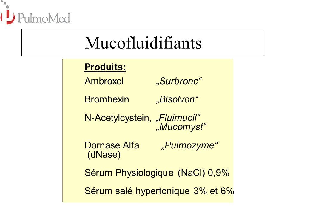 "Mucofluidifiants Produits: Ambroxol ""Surbronc Bromhexin ""Bisolvon"