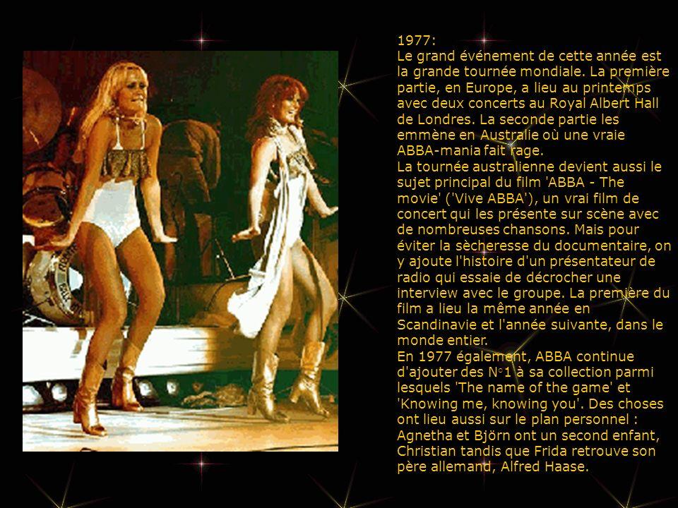 1977: Le grand événement de cette année est la grande tournée mondiale