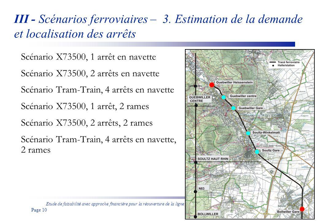 III - Scénarios ferroviaires – 3